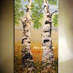 Birch Tree Painting Original Landscape Palette