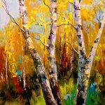 Birch Trees Painting Olha Darchuk Saatchi