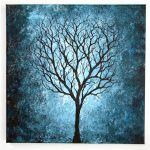 Blue Tree Painting Blablover
