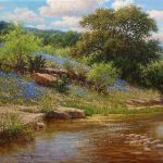 Bluebonnet Realistic Landscape Oil Painting Titled Spring Perfection William