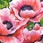 Blushing Poppies Step Acrylic Tutorial Ginger Cook