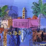 Boardwalk Nice Artwork Raoul Dufy Oil Painting Art Prints Canvas