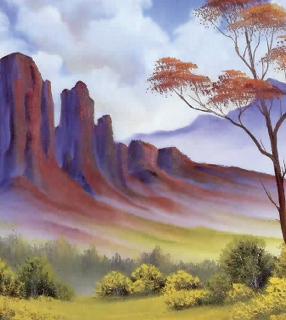 Bob Ross Dvd Disc Mountain Paintings Collection