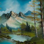 Bob Ross Mountain Cabin Painting Paintings