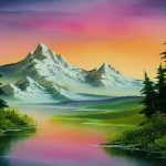 Bob Ross Painting Featured Presidential Library American Public