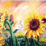 Bob Ross Sunflowers Oil Paintings Sale