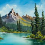 Bob Ross Wilderness Waterfall Painting Paintings