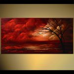 Buy Landscape Painting Red Clouds