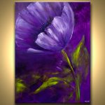 Buy Purple Flower Abstract Green