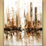 Buy White Abstract City Home