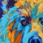 California Artwork Colorful Animal Art Grizzly Bear Painting Theresa