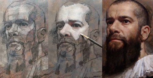 Cesar Santos Painting Color Pinterest Portraits