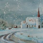 Christmas Scenes Paintings Imgkid