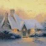 Christmas Tree Cottage Limited Edition Art Thomas Kinkade