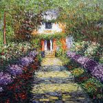 Claude Monet Pathway Garden Giverny Oil Paintings