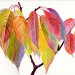 Colorful Fall Leaves Painting Sharon