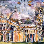 Colourful Lively Paintings Landmarks Famous Places Ginette Callaway