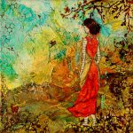 Come Back Home Inspiring Folk Art Painting Mixed Media Janelle