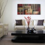 Contemporary Abstract Paintings Modern Living Room New York Osnat Fine