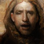 Copy Odd Nerdrum Head Man Bird Painting Derek Van