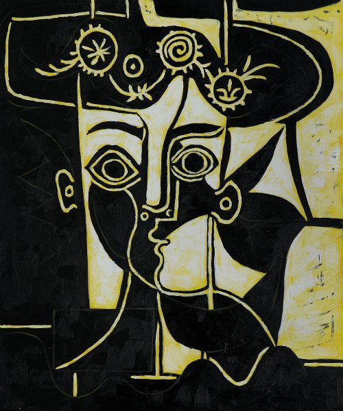 Cubist Oil Painting Reproduction Pablo Picasso Femme Chapeau Orne