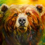 Daily Painters Abstract Artoutwest Bear Wildlife Art Oil Painting Diane