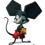 Daily Painting Mickey Mouse Cryptid Creations