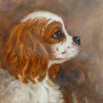 Daily Painting Projects Cavalier Profile Oil Dog Art Pets King Charles