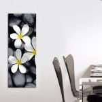Deco Glass Wall Decor Art White Splendour