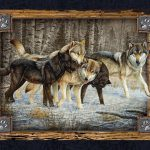Deco Wolves Painting