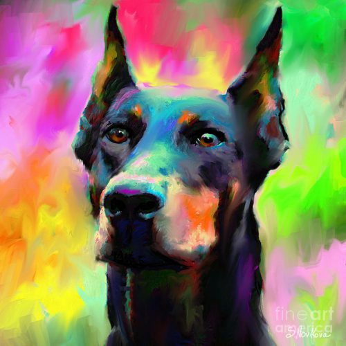 Doberman Pincher Dog Portrait Svetlana