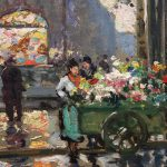 Douard Leon Cort Metro George Champs Elysees Painting Sale