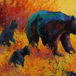 Double Trouble Black Bear Painting Marion