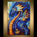 Dragon Painting Abstract Art