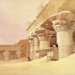 Drawing Painting David Roberts Pronaos Temple