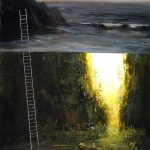 Dreamy Split Level Landscape Paintings Jeremy Miranda