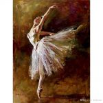 Edgar Degas Dancer Tilting Oil Paintings Reproduction Canvas Art Hand Painted Home