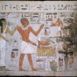 Egyptian Wall Fragment Tomb Amenemhet His Wife Hemet Google Art