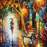 End Patience Palette Knife Modern Oil Painting Canvas Leonid
