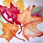 Fall Leaves Painting Sharon