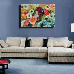 Famous Artist Acrylic Paint Living Room Abstract Modern Canvas Art Handmade Decorative
