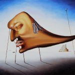 Famous Artwork Salvador Dali Oil Painting Reproduction Sleep Hand Painted High