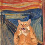Famous Paintings Photobombed Fat Orange Cat Part Two Ruby Lane