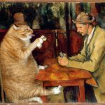 Fatcatart Great Artists Mews New Cezanne Painting Discovered Cat Card