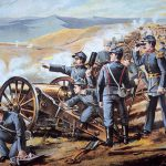 Federal Field Artillery Action During American Civil War