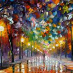 First Snow Palette Knife Oil Painting Canvas Leonid