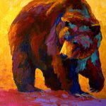 Fish Grizzly Bear Painting Marion