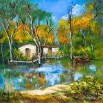 Fishing Camp Painting Dianne
