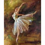 Framed Canvas Arts Edgar Degas Oil Paintings Ballerina Dancer Tilting Modern