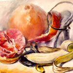 Fruit Cocktail Palette Knife Oil Painting Canvas Leonid